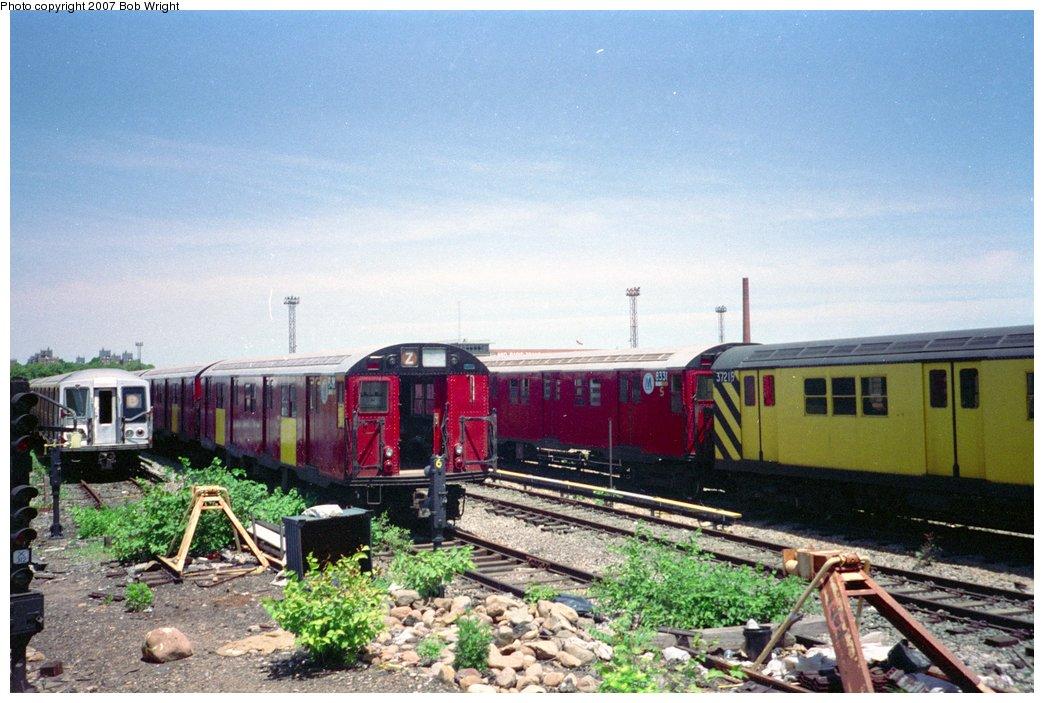 (162k, 1044x703)<br><b>Country:</b> United States<br><b>City:</b> New York<br><b>System:</b> New York City Transit<br><b>Location:</b> Coney Island Yard<br><b>Photo by:</b> Bob Wright<br><b>Date:</b> 5/30/1993<br><b>Viewed (this week/total):</b> 2 / 1159