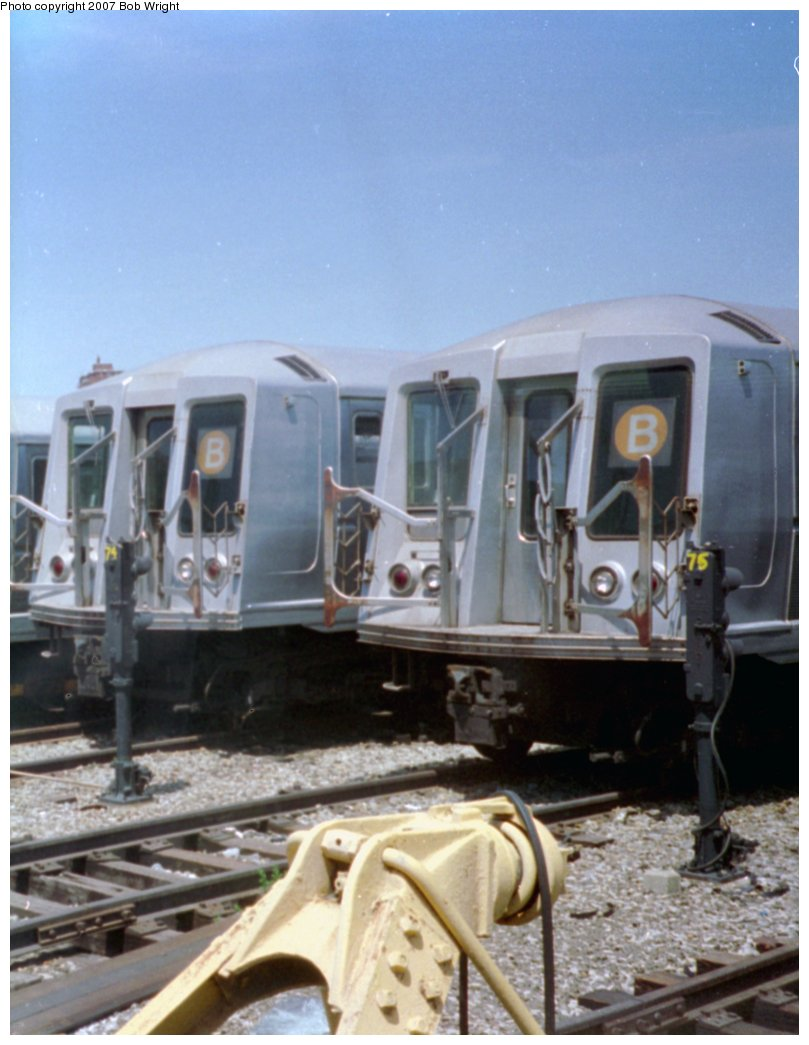 (124k, 809x1045)<br><b>Country:</b> United States<br><b>City:</b> New York<br><b>System:</b> New York City Transit<br><b>Location:</b> Coney Island Yard<br><b>Car:</b> R-40 (St. Louis, 1968)   <br><b>Photo by:</b> Bob Wright<br><b>Date:</b> 5/30/1993<br><b>Viewed (this week/total):</b> 1 / 2252