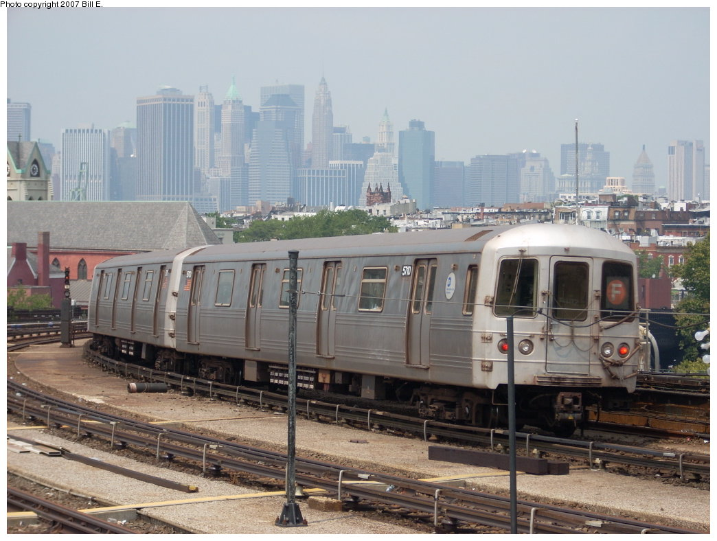 (204k, 1044x788)<br><b>Country:</b> United States<br><b>City:</b> New York<br><b>System:</b> New York City Transit<br><b>Line:</b> IND Crosstown Line<br><b>Location:</b> Smith/9th Street <br><b>Route:</b> F<br><b>Car:</b> R-46 (Pullman-Standard, 1974-75) 5710 <br><b>Photo by:</b> Bill E.<br><b>Date:</b> 7/28/2007<br><b>Viewed (this week/total):</b> 1 / 2091