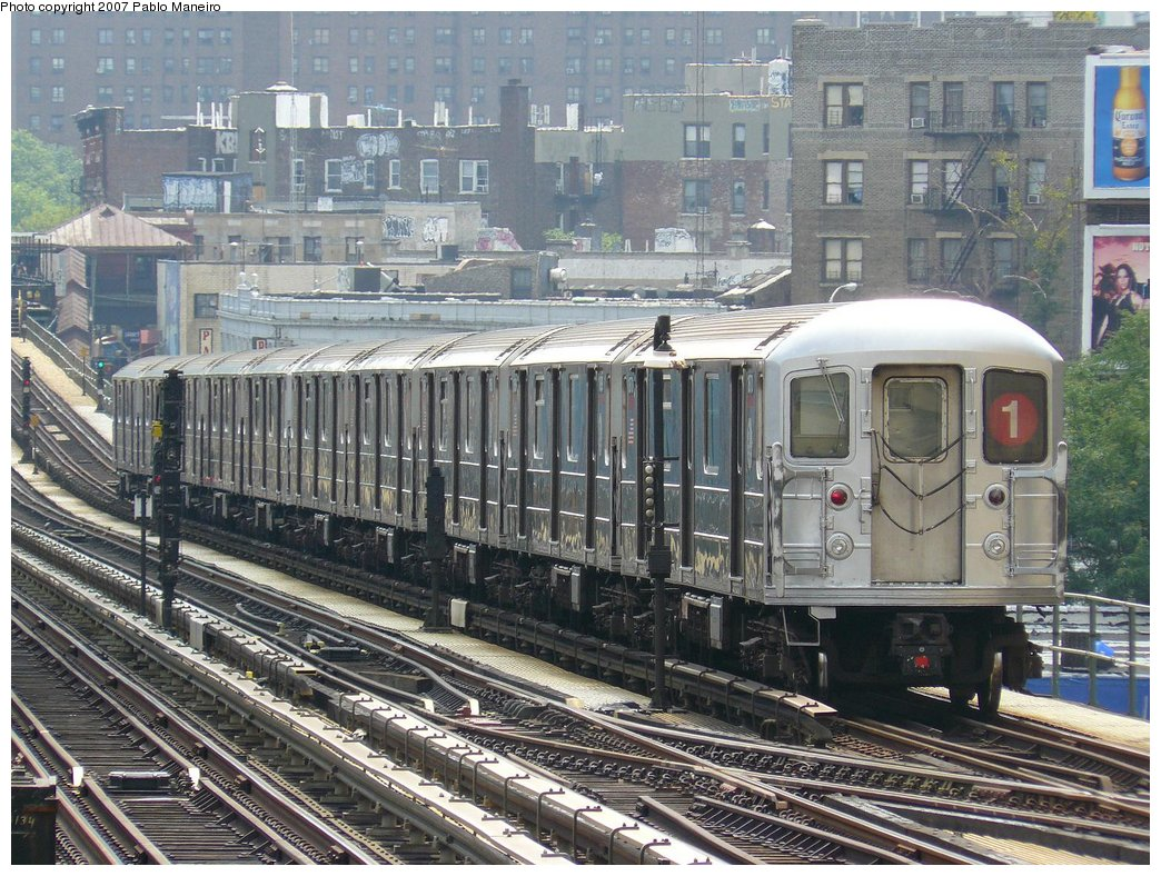 (249k, 1044x788)<br><b>Country:</b> United States<br><b>City:</b> New York<br><b>System:</b> New York City Transit<br><b>Line:</b> IRT West Side Line<br><b>Location:</b> 215th Street <br><b>Route:</b> 1<br><b>Car:</b> R-62A (Bombardier, 1984-1987)   <br><b>Photo by:</b> Pablo Maneiro<br><b>Date:</b> 7/27/2007<br><b>Viewed (this week/total):</b> 1 / 1991