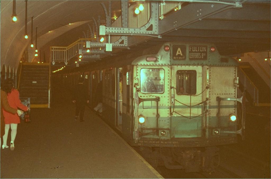 (160k, 1024x677)<br><b>Country:</b> United States<br><b>City:</b> New York<br><b>System:</b> New York City Transit<br><b>Line:</b> IND 8th Avenue Line<br><b>Location:</b> 181st Street <br><b>Route:</b> A<br><b>Car:</b> R-10 (American Car & Foundry, 1948)  <br><b>Photo by:</b> Steve Zabel<br><b>Collection of:</b> Joe Testagrose<br><b>Viewed (this week/total):</b> 3 / 3936