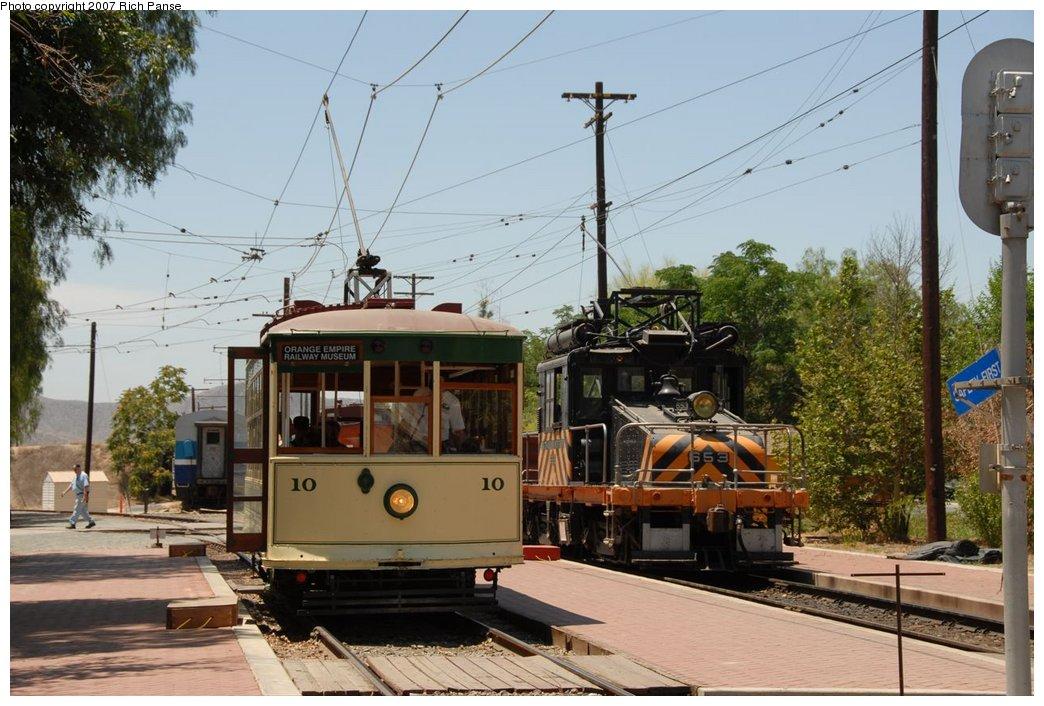 (194k, 1044x706)<br><b>Country:</b> United States<br><b>City:</b> Perris, CA<br><b>System:</b> Orange Empire Railway Museum <br><b>Car:</b>  10 <br><b>Photo by:</b> Richard Panse<br><b>Date:</b> 6/23/2007<br><b>Viewed (this week/total):</b> 1 / 1292