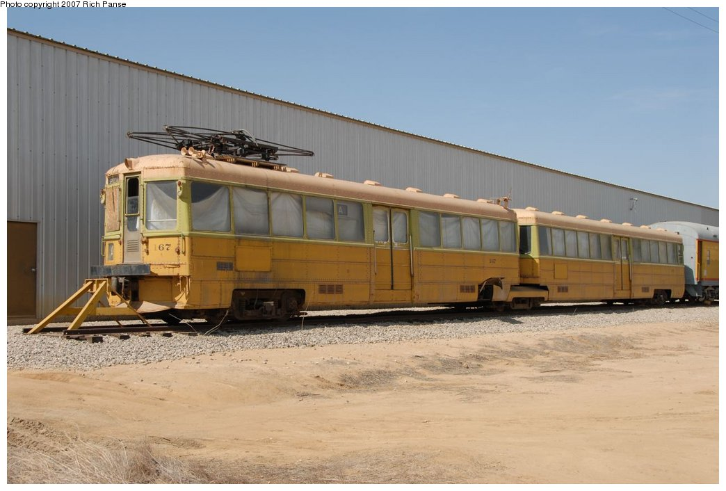 (154k, 1044x706)<br><b>Country:</b> United States<br><b>City:</b> Perris, CA<br><b>System:</b> Orange Empire Railway Museum <br><b>Car:</b>  167 <br><b>Photo by:</b> Richard Panse<br><b>Date:</b> 6/23/2007<br><b>Viewed (this week/total):</b> 4 / 1881