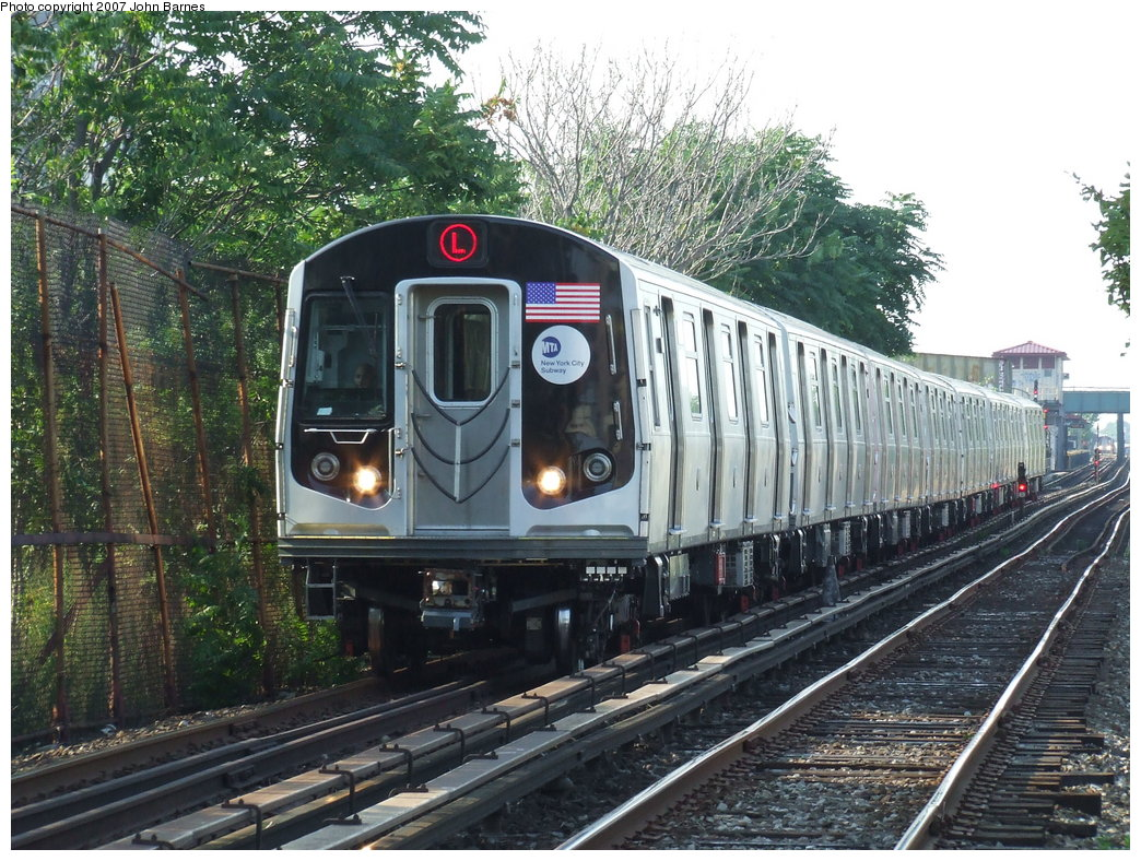 (251k, 1044x788)<br><b>Country:</b> United States<br><b>City:</b> New York<br><b>System:</b> New York City Transit<br><b>Line:</b> BMT Canarsie Line<br><b>Location:</b> New Lots Avenue <br><b>Route:</b> L<br><b>Car:</b> R-160A-1 (Alstom, 2005-2008, 4 car sets)  8316 <br><b>Photo by:</b> John Barnes<br><b>Date:</b> 8/2/2007<br><b>Viewed (this week/total):</b> 1 / 3657