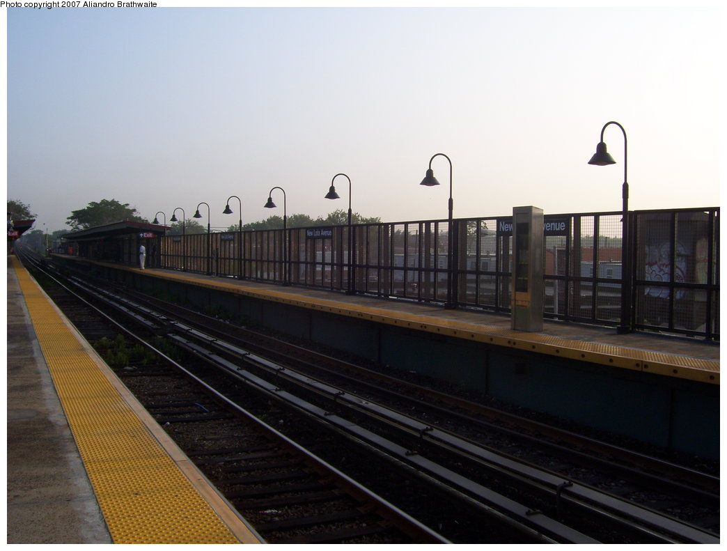 (137k, 1044x791)<br><b>Country:</b> United States<br><b>City:</b> New York<br><b>System:</b> New York City Transit<br><b>Line:</b> BMT Canarsie Line<br><b>Location:</b> New Lots Avenue <br><b>Photo by:</b> Aliandro Brathwaite<br><b>Date:</b> 7/30/2007<br><b>Viewed (this week/total):</b> 4 / 1634