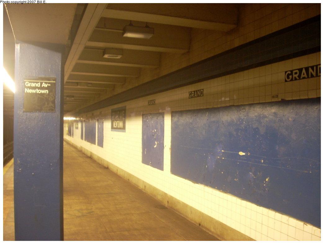 (138k, 1044x788)<br><b>Country:</b> United States<br><b>City:</b> New York<br><b>System:</b> New York City Transit<br><b>Line:</b> IND Queens Boulevard Line<br><b>Location:</b> Grand Avenue/Newtown <br><b>Photo by:</b> Bill E.<br><b>Date:</b> 7/31/2007<br><b>Viewed (this week/total):</b> 2 / 1862