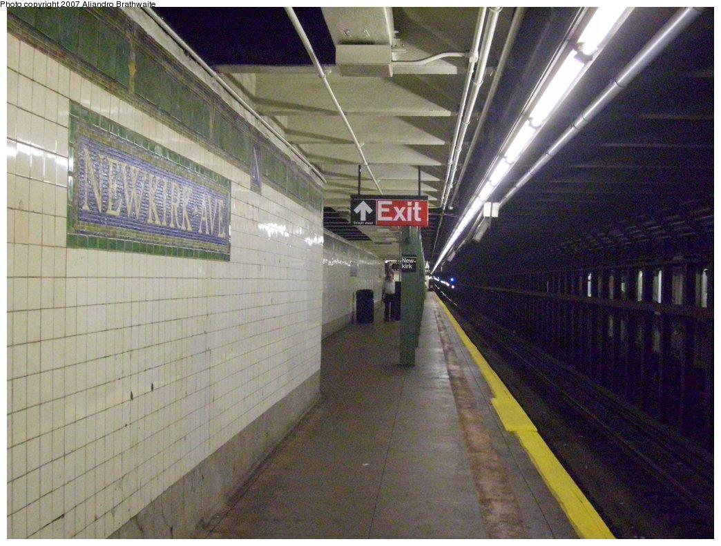 (205k, 1044x791)<br><b>Country:</b> United States<br><b>City:</b> New York<br><b>System:</b> New York City Transit<br><b>Line:</b> IRT Brooklyn Line<br><b>Location:</b> Newkirk Avenue <br><b>Photo by:</b> Aliandro Brathwaite<br><b>Date:</b> 8/3/2007<br><b>Viewed (this week/total):</b> 3 / 2914