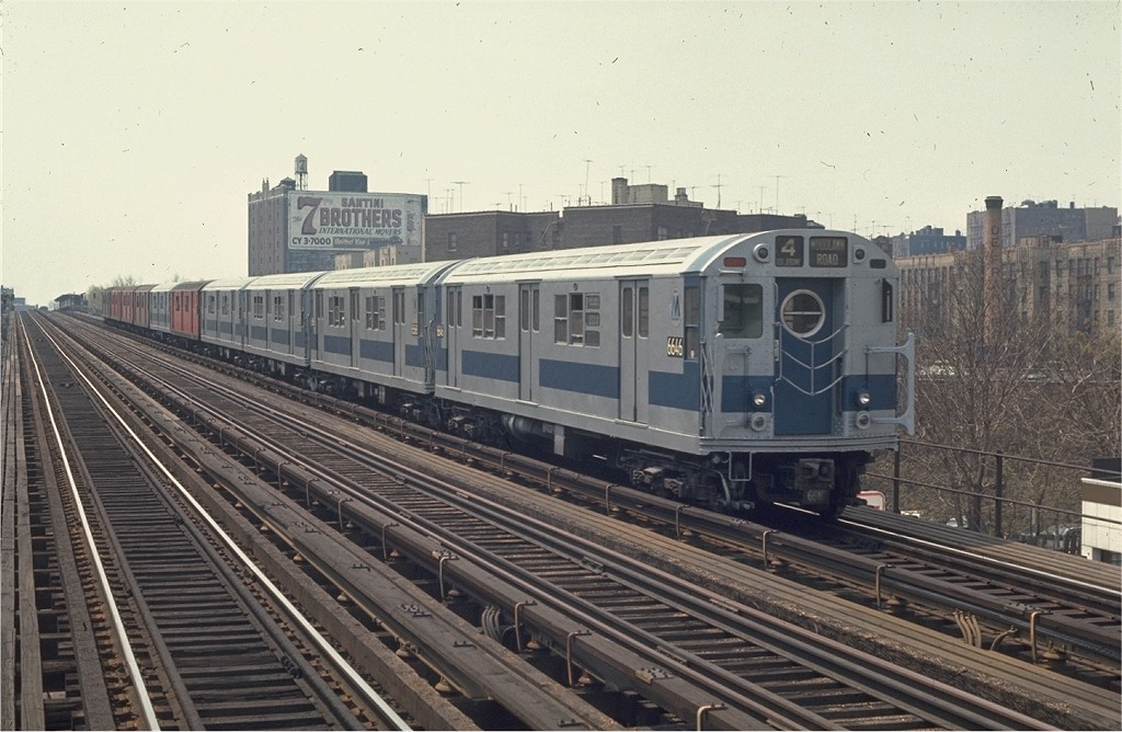 (192k, 1024x668)<br><b>Country:</b> United States<br><b>City:</b> New York<br><b>System:</b> New York City Transit<br><b>Line:</b> IRT Woodlawn Line<br><b>Location:</b> Mt. Eden Avenue <br><b>Route:</b> 4<br><b>Car:</b> R-17 (St. Louis, 1955-56) 6646 <br><b>Photo by:</b> Joe Testagrose<br><b>Date:</b> 5/9/1970<br><b>Viewed (this week/total):</b> 0 / 1914