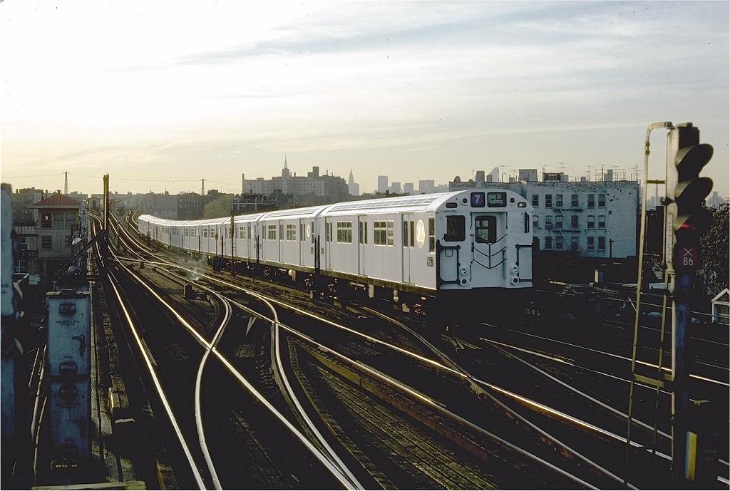 (202k, 1024x689)<br><b>Country:</b> United States<br><b>City:</b> New York<br><b>System:</b> New York City Transit<br><b>Line:</b> IRT Flushing Line<br><b>Location:</b> 69th Street/Fisk Avenue <br><b>Route:</b> 7<br><b>Car:</b> R-36 World's Fair (St. Louis, 1963-64) 9647 <br><b>Photo by:</b> Steve Zabel<br><b>Collection of:</b> Joe Testagrose<br><b>Date:</b> 11/13/1981<br><b>Viewed (this week/total):</b> 0 / 2774