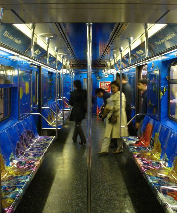 (124k, 746x900)<br><b>Country:</b> United States<br><b>City:</b> New York<br><b>System:</b> New York City Transit<br><b>Route:</b> S<br><b>Car:</b> R-62A (Bombardier, 1984-1987)  Interior <br><b>Photo by:</b> Robbie Rosenfeld<br><b>Date:</b> 8/10/2007<br><b>Notes:</b> Westin hotels/resorts ad wrap.<br><b>Viewed (this week/total):</b> 0 / 2233