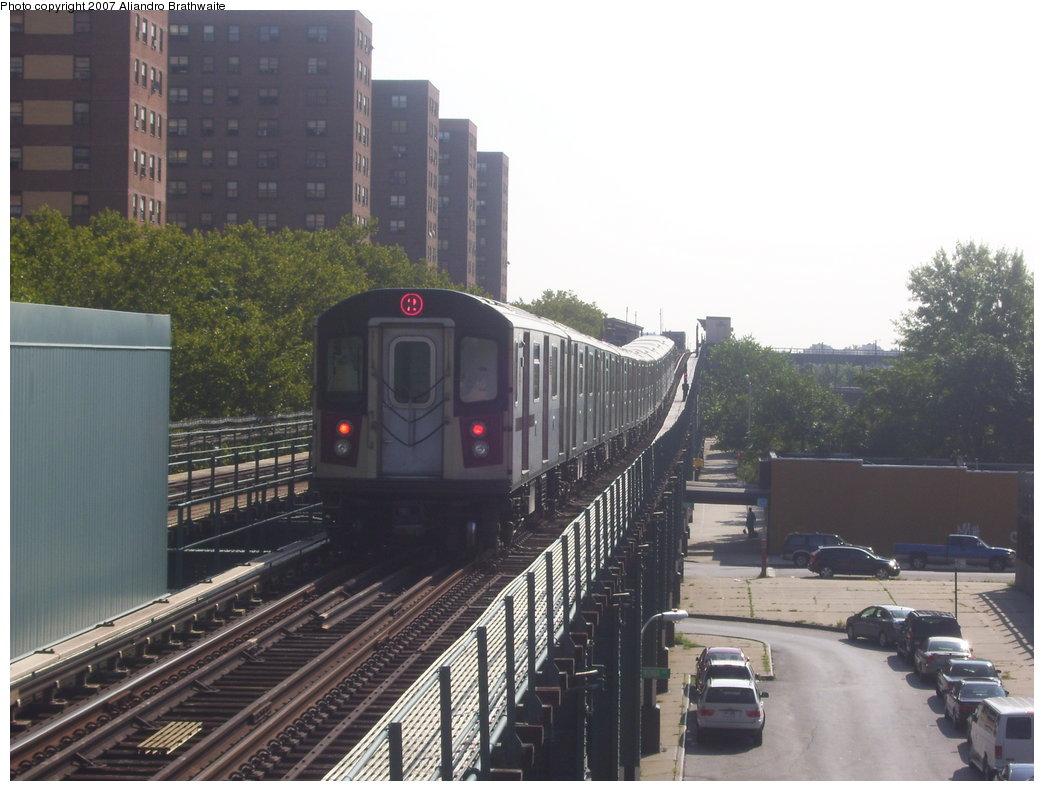 (168k, 1044x791)<br><b>Country:</b> United States<br><b>City:</b> New York<br><b>System:</b> New York City Transit<br><b>Line:</b> IRT Brooklyn Line<br><b>Location:</b> Rockaway Avenue <br><b>Route:</b> 2<br><b>Car:</b> R-142 (Primary Order, Bombardier, 1999-2002)  6420 <br><b>Photo by:</b> Aliandro Brathwaite<br><b>Date:</b> 8/9/2007<br><b>Viewed (this week/total):</b> 6 / 5090