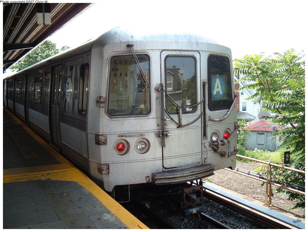 (211k, 1044x788)<br><b>Country:</b> United States<br><b>City:</b> New York<br><b>System:</b> New York City Transit<br><b>Line:</b> IND Rockaway<br><b>Location:</b> Mott Avenue/Far Rockaway <br><b>Route:</b> A<br><b>Car:</b> R-44 (St. Louis, 1971-73) 5312 <br><b>Photo by:</b> Chris M.<br><b>Date:</b> 8/13/2007<br><b>Viewed (this week/total):</b> 0 / 1743