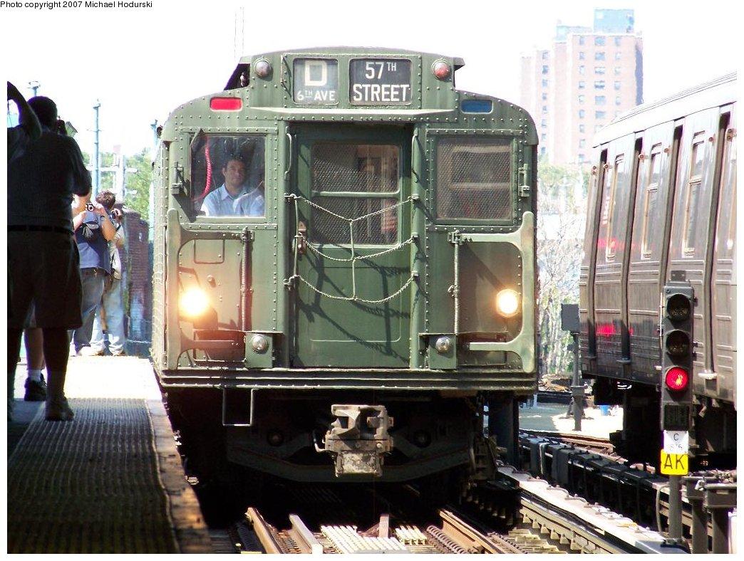 (202k, 1044x788)<br><b>Country:</b> United States<br><b>City:</b> New York<br><b>System:</b> New York City Transit<br><b>Location:</b> Coney Island/Stillwell Avenue<br><b>Route:</b> Fan Trip<br><b>Car:</b> R-9 (Pressed Steel, 1940)  1802 <br><b>Photo by:</b> Michael Hodurski<br><b>Date:</b> 8/12/2007<br><b>Viewed (this week/total):</b> 3 / 2219