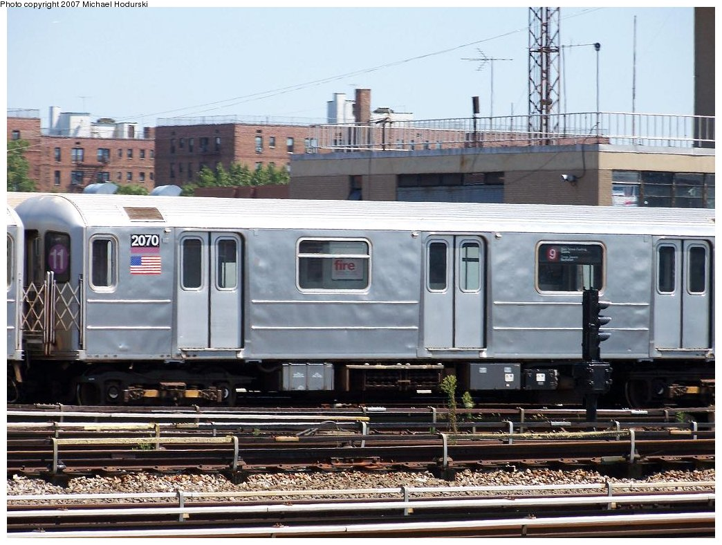 (205k, 1044x788)<br><b>Country:</b> United States<br><b>City:</b> New York<br><b>System:</b> New York City Transit<br><b>Location:</b> Coney Island Yard<br><b>Car:</b> R-62A (Bombardier, 1984-1987)  2070 <br><b>Photo by:</b> Michael Hodurski<br><b>Date:</b> 8/12/2007<br><b>Viewed (this week/total):</b> 0 / 1964
