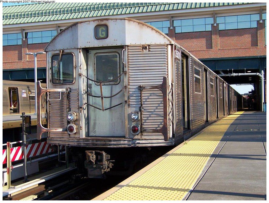 (263k, 1044x788)<br><b>Country:</b> United States<br><b>City:</b> New York<br><b>System:</b> New York City Transit<br><b>Location:</b> Coney Island/Stillwell Avenue<br><b>Route:</b> G<br><b>Car:</b> R-32 (Budd, 1964)  3501 <br><b>Photo by:</b> Michael Hodurski<br><b>Date:</b> 8/12/2007<br><b>Viewed (this week/total):</b> 0 / 2229