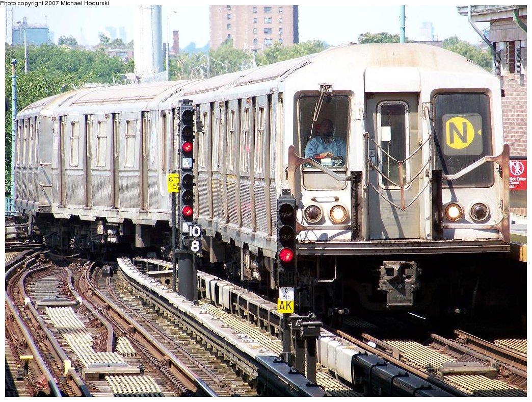 (280k, 1044x788)<br><b>Country:</b> United States<br><b>City:</b> New York<br><b>System:</b> New York City Transit<br><b>Location:</b> Coney Island/Stillwell Avenue<br><b>Route:</b> N<br><b>Car:</b> R-40 (St. Louis, 1968)  4394 <br><b>Photo by:</b> Michael Hodurski<br><b>Date:</b> 8/12/2007<br><b>Viewed (this week/total):</b> 0 / 1863