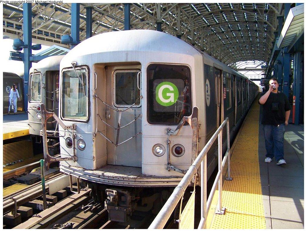 (254k, 1044x788)<br><b>Country:</b> United States<br><b>City:</b> New York<br><b>System:</b> New York City Transit<br><b>Location:</b> Coney Island Yard<br><b>Route:</b> G<br><b>Car:</b> R-42 (St. Louis, 1969-1970)  4916 <br><b>Photo by:</b> Michael Hodurski<br><b>Date:</b> 8/11/2007<br><b>Viewed (this week/total):</b> 0 / 2218