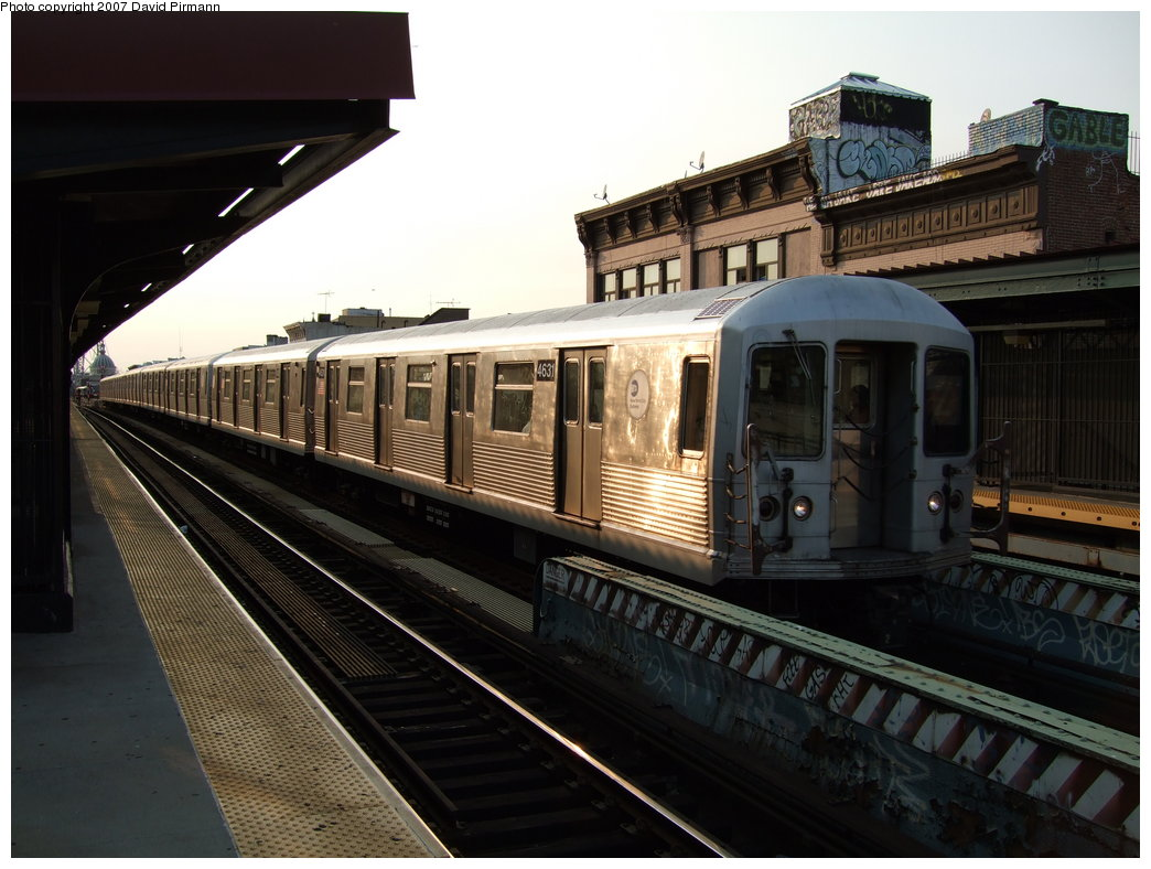 (167k, 1044x788)<br><b>Country:</b> United States<br><b>City:</b> New York<br><b>System:</b> New York City Transit<br><b>Line:</b> BMT Nassau Street/Jamaica Line<br><b>Location:</b> Hewes Street <br><b>Route:</b> Z<br><b>Car:</b> R-42 (St. Louis, 1969-1970)  4631 <br><b>Photo by:</b> David Pirmann<br><b>Date:</b> 8/14/2007<br><b>Viewed (this week/total):</b> 0 / 1339