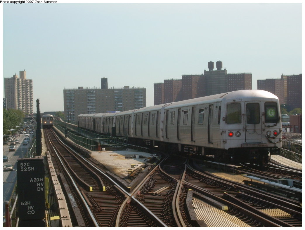 (183k, 1044x788)<br><b>Country:</b> United States<br><b>City:</b> New York<br><b>System:</b> New York City Transit<br><b>Line:</b> BMT Culver Line<br><b>Location:</b> Avenue X <br><b>Route:</b> G<br><b>Car:</b> R-46 (Pullman-Standard, 1974-75)  <br><b>Photo by:</b> Zach Summer<br><b>Date:</b> 8/12/2007<br><b>Viewed (this week/total):</b> 0 / 1757