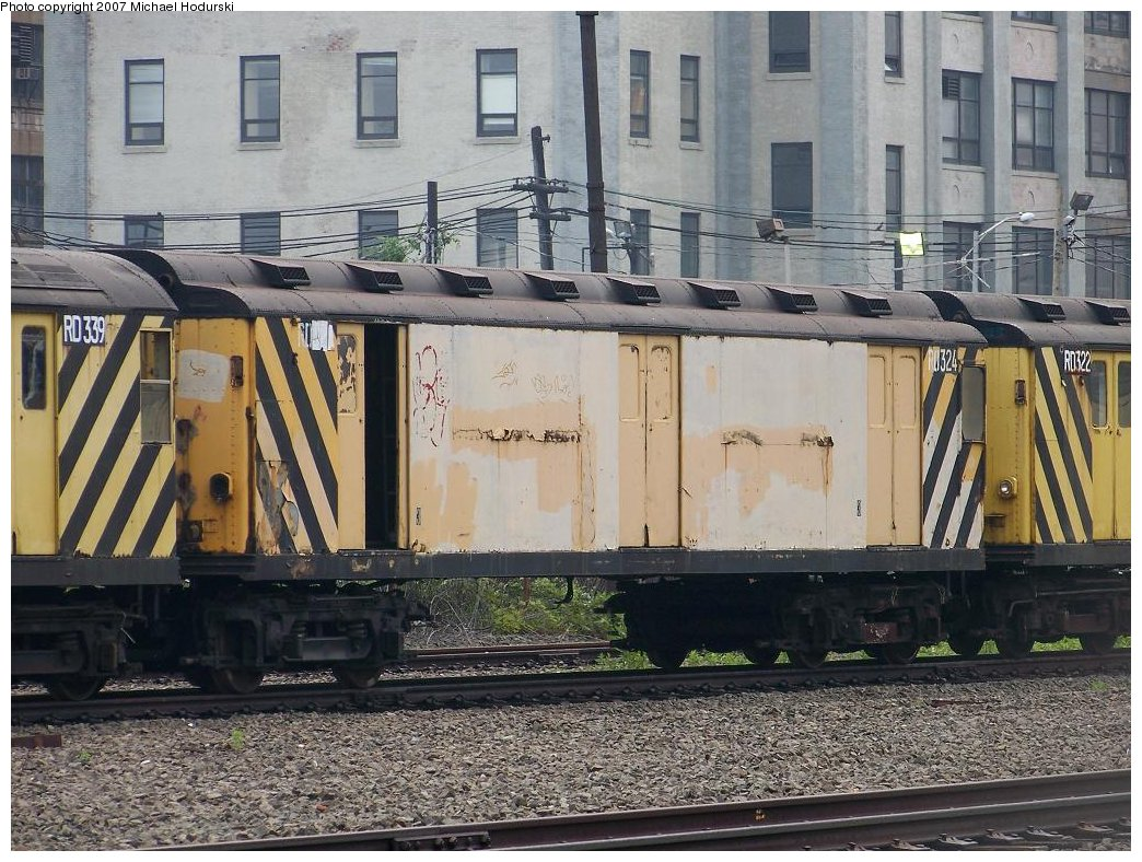 (230k, 1044x788)<br><b>Country:</b> United States<br><b>City:</b> New York<br><b>System:</b> New York City Transit<br><b>Line:</b> South Brooklyn Railway<br><b>Location:</b> SBK Yard (2nd Ave at 38th St.) (SBK)<br><b>Car:</b> R-71 Rider Car (R-17/R-21/R-22 Rebuilds)  RD324 (ex-5812)<br><b>Photo by:</b> Michael Hodurski<br><b>Date:</b> 7/5/2007<br><b>Viewed (this week/total):</b> 5 / 1964