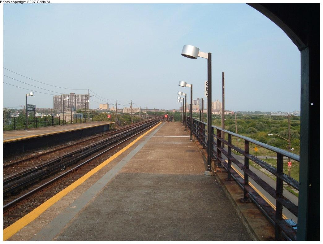 (151k, 1044x788)<br><b>Country:</b> United States<br><b>City:</b> New York<br><b>System:</b> New York City Transit<br><b>Line:</b> IND Rockaway<br><b>Location:</b> Beach 44th Street/Frank Avenue <br><b>Photo by:</b> Chris M.<br><b>Date:</b> 8/15/2007<br><b>Viewed (this week/total):</b> 0 / 879