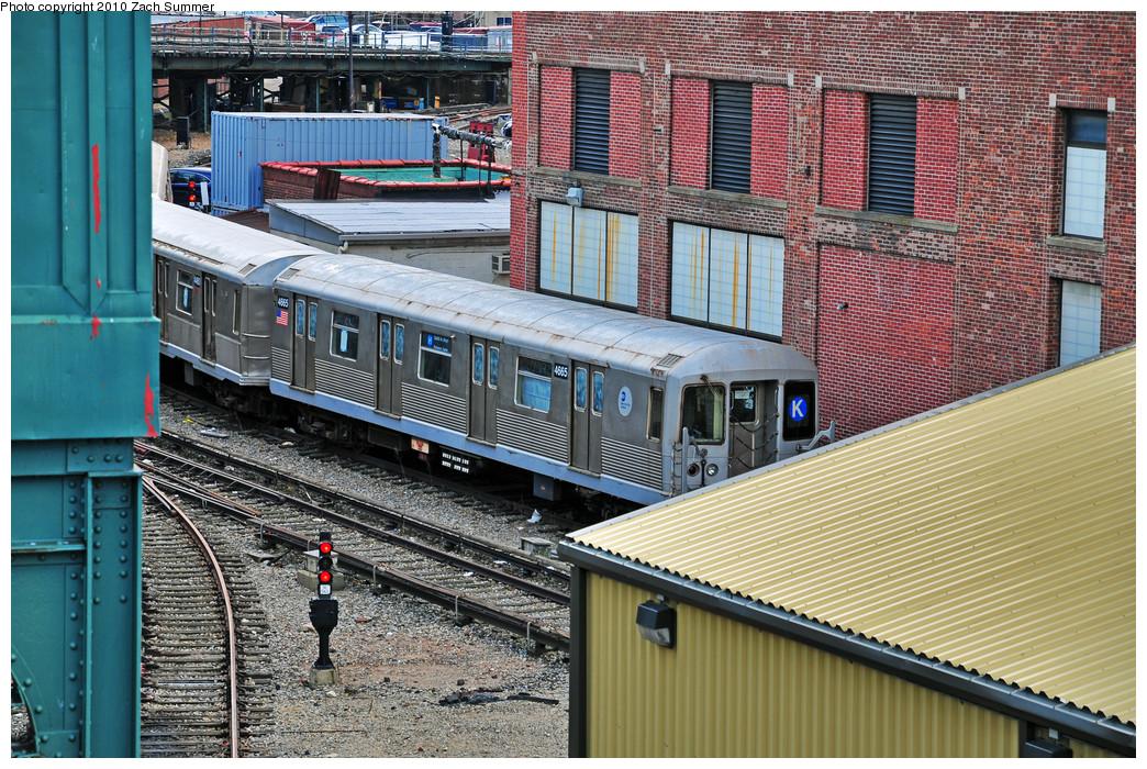 (388k, 1044x700)<br><b>Country:</b> United States<br><b>City:</b> New York<br><b>System:</b> New York City Transit<br><b>Location:</b> Coney Island Yard<br><b>Car:</b> R-42 (St. Louis, 1969-1970)  4665 <br><b>Photo by:</b> Zach Summer<br><b>Date:</b> 3/10/2010<br><b>Viewed (this week/total):</b> 0 / 1427