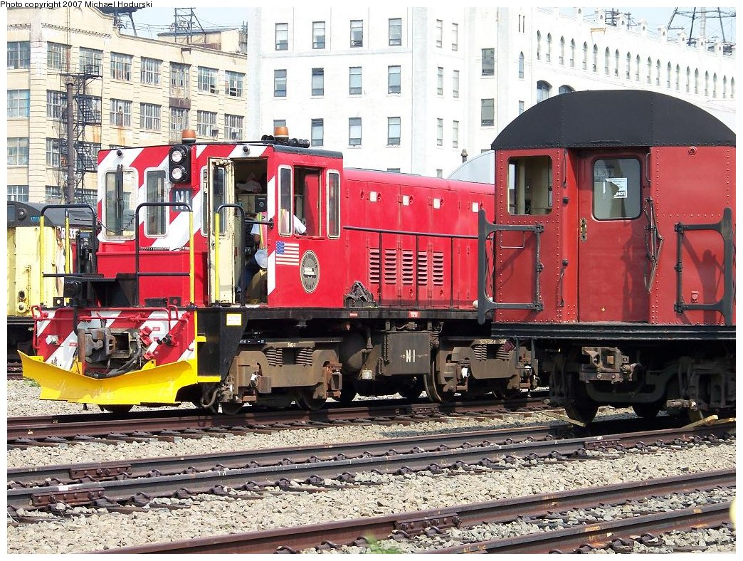 (284k, 1044x788)<br><b>Country:</b> United States<br><b>City:</b> New York<br><b>System:</b> New York City Transit<br><b>Line:</b> South Brooklyn Railway<br><b>Location:</b> SBK Yard (2nd Ave at 38th St.) (SBK)<br><b>Car:</b> R-47 (SBK) Locomotive  N1 <br><b>Photo by:</b> Michael Hodurski<br><b>Date:</b> 7/17/2007<br><b>Viewed (this week/total):</b> 2 / 1446