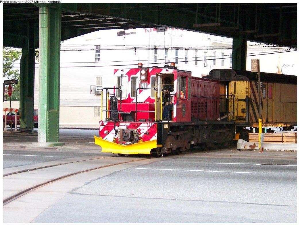 (197k, 1044x788)<br><b>Country:</b> United States<br><b>City:</b> New York<br><b>System:</b> New York City Transit<br><b>Line:</b> South Brooklyn Railway<br><b>Location:</b> 3rd Avenue/38th St Crossing (Gowanus) (SBK)<br><b>Car:</b> R-47 (SBK) Locomotive  N1 <br><b>Photo by:</b> Michael Hodurski<br><b>Date:</b> 7/19/2007<br><b>Viewed (this week/total):</b> 2 / 1761