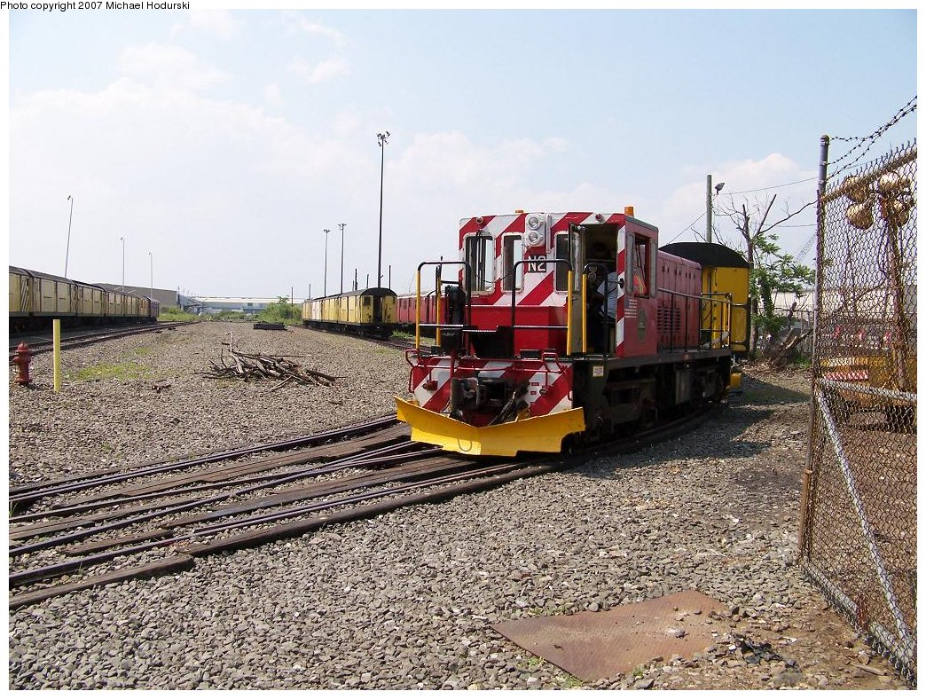 (293k, 1044x788)<br><b>Country:</b> United States<br><b>City:</b> New York<br><b>System:</b> New York City Transit<br><b>Line:</b> South Brooklyn Railway<br><b>Location:</b> SBK Yard (2nd Ave at 38th St.) (SBK)<br><b>Car:</b> R-47 (SBK) Locomotive  N2 <br><b>Photo by:</b> Michael Hodurski<br><b>Date:</b> 7/17/2007<br><b>Viewed (this week/total):</b> 1 / 1610