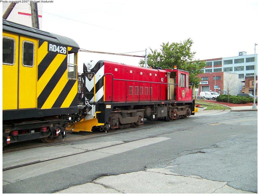 (194k, 1044x788)<br><b>Country:</b> United States<br><b>City:</b> New York<br><b>System:</b> New York City Transit<br><b>Line:</b> South Brooklyn Railway<br><b>Location:</b> 2nd Avenue (SBK)<br><b>Car:</b> R-47 (SBK) Locomotive  N2 <br><b>Photo by:</b> Michael Hodurski<br><b>Date:</b> 7/19/2007<br><b>Viewed (this week/total):</b> 2 / 1485