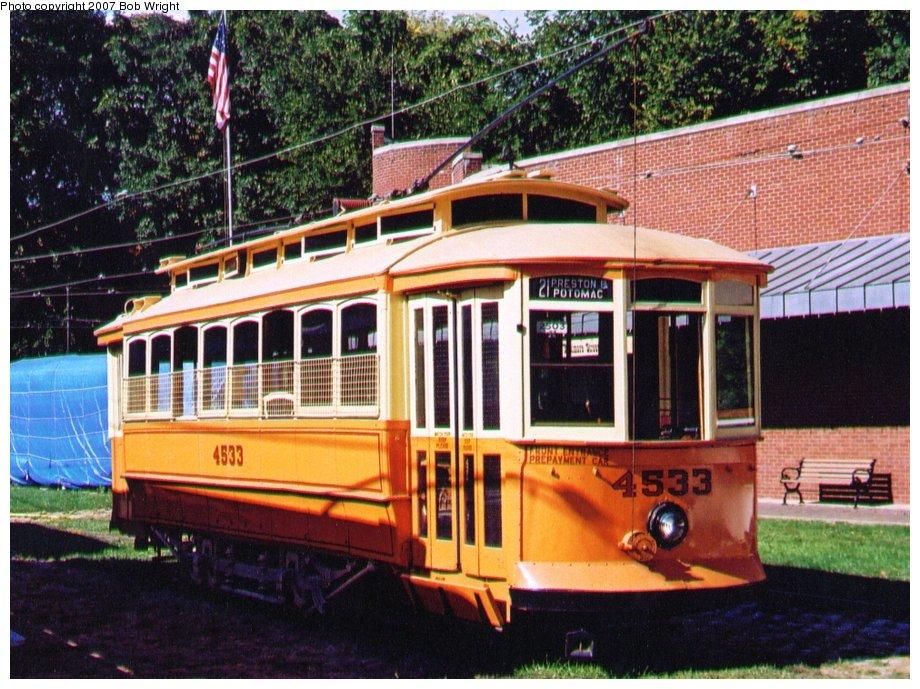 (171k, 920x689)<br><b>Country:</b> United States<br><b>City:</b> Baltimore, MD<br><b>System:</b> Baltimore Streetcar Museum <br><b>Car:</b>  4533 <br><b>Photo by:</b> Bob Wright<br><b>Date:</b> 10/2004<br><b>Viewed (this week/total):</b> 3 / 995