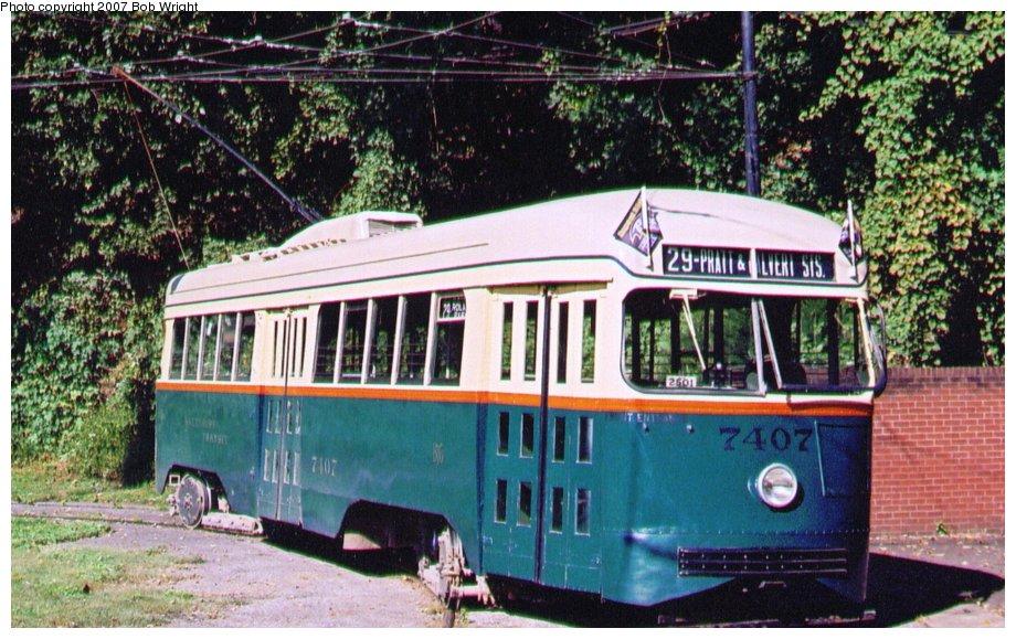 (154k, 920x579)<br><b>Country:</b> United States<br><b>City:</b> Baltimore, MD<br><b>System:</b> Baltimore Streetcar Museum <br><b>Car:</b> PCC 7407 <br><b>Photo by:</b> Bob Wright<br><b>Date:</b> 10/2004<br><b>Viewed (this week/total):</b> 3 / 1000