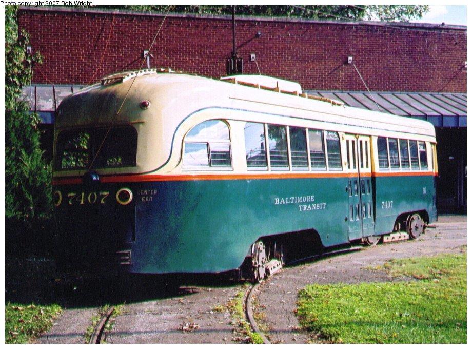 (162k, 920x680)<br><b>Country:</b> United States<br><b>City:</b> Baltimore, MD<br><b>System:</b> Baltimore Streetcar Museum <br><b>Car:</b> PCC 7407 <br><b>Photo by:</b> Bob Wright<br><b>Date:</b> 10/2004<br><b>Viewed (this week/total):</b> 0 / 882