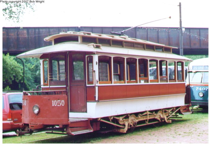 (94k, 854x593)<br><b>Country:</b> United States<br><b>City:</b> Baltimore, MD<br><b>System:</b> Baltimore Streetcar Museum <br><b>Car:</b>  1050 <br><b>Photo by:</b> Bob Wright<br><b>Date:</b> 7/1995<br><b>Viewed (this week/total):</b> 0 / 1456