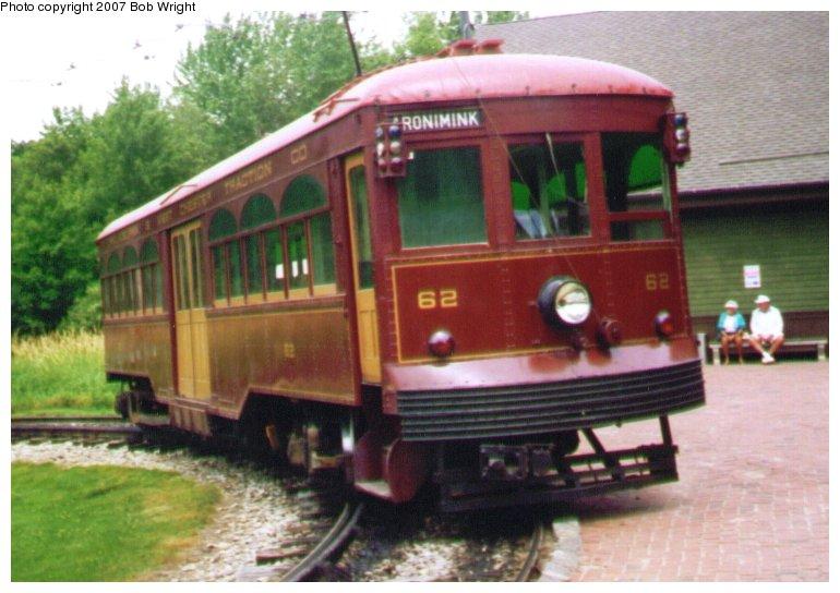 (82k, 770x544)<br><b>Country:</b> United States<br><b>City:</b> Kennebunk, ME<br><b>System:</b> Seashore Trolley Museum <br><b>Car:</b> PSTC Center Entrance Interurban (J.G. Brill, 1926)  62 <br><b>Photo by:</b> Bob Wright<br><b>Date:</b> 7/1997<br><b>Viewed (this week/total):</b> 0 / 1066
