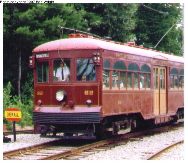 (77k, 622x540)<br><b>Country:</b> United States<br><b>City:</b> Kennebunk, ME<br><b>System:</b> Seashore Trolley Museum <br><b>Car:</b> PSTC Center Entrance Interurban (J.G. Brill, 1926)  62 <br><b>Photo by:</b> Bob Wright<br><b>Date:</b> 7/1997<br><b>Viewed (this week/total):</b> 0 / 917