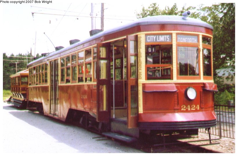 (85k, 820x539)<br><b>Country:</b> Canada<br><b>City:</b> Toronto<br><b>System:</b> Halton County Radial Railway <br><b>Car:</b> TTC Witt 2424 <br><b>Photo by:</b> Bob Wright<br><b>Date:</b> 7/1999<br><b>Viewed (this week/total):</b> 0 / 1773