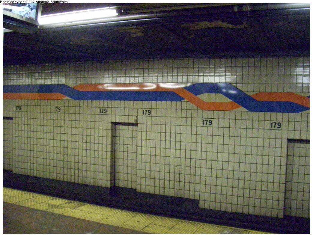 (213k, 1044x791)<br><b>Country:</b> United States<br><b>City:</b> New York<br><b>System:</b> New York City Transit<br><b>Line:</b> IND Queens Boulevard Line<br><b>Location:</b> 179th Street <br><b>Photo by:</b> Aliandro Brathwaite<br><b>Date:</b> 8/14/2007<br><b>Viewed (this week/total):</b> 1 / 2464