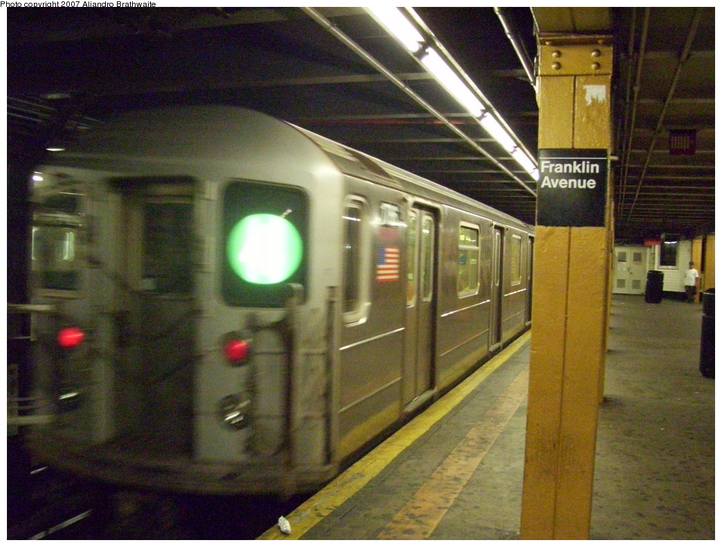 (206k, 1044x791)<br><b>Country:</b> United States<br><b>City:</b> New York<br><b>System:</b> New York City Transit<br><b>Line:</b> IRT Brooklyn Line<br><b>Location:</b> Franklin Avenue <br><b>Route:</b> 4<br><b>Car:</b> R-62A (Bombardier, 1984-1987)  1786 <br><b>Photo by:</b> Aliandro Brathwaite<br><b>Date:</b> 8/14/2007<br><b>Viewed (this week/total):</b> 0 / 4414