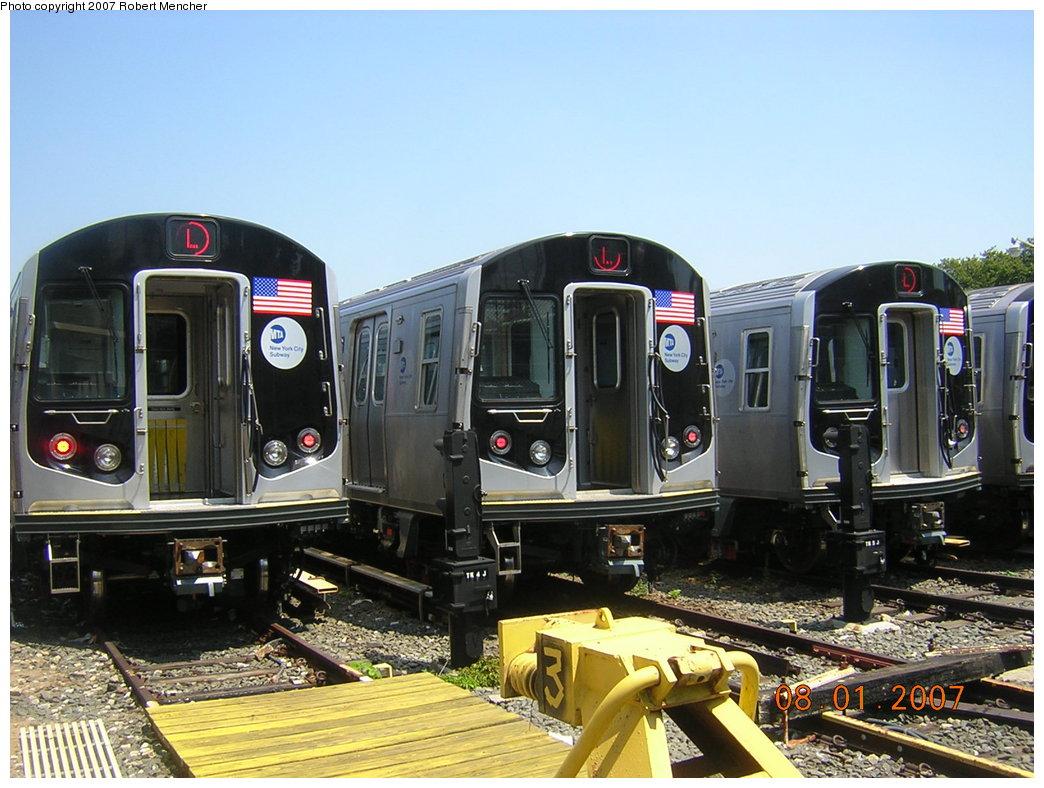(214k, 1044x788)<br><b>Country:</b> United States<br><b>City:</b> New York<br><b>System:</b> New York City Transit<br><b>Location:</b> Rockaway Parkway (Canarsie) Yard<br><b>Car:</b> R-160A-1 (Alstom, 2005-2008, 4 car sets)  8316/8344 <br><b>Photo by:</b> Robert Mencher<br><b>Date:</b> 8/1/2007<br><b>Viewed (this week/total):</b> 0 / 4168