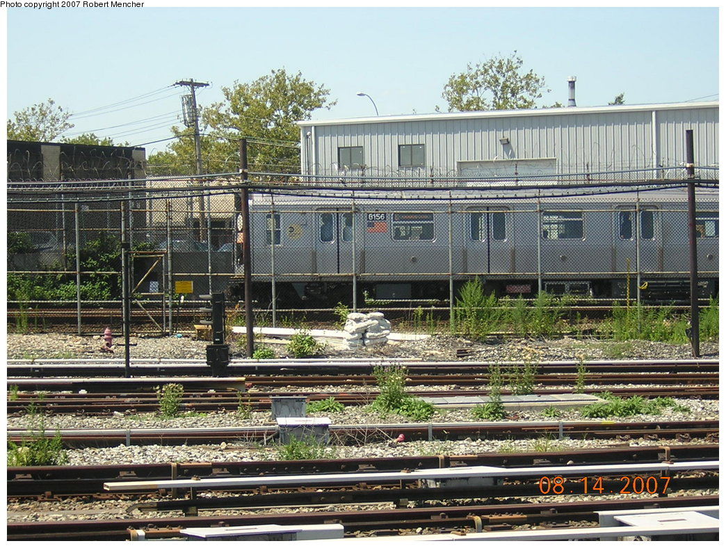 (298k, 1044x788)<br><b>Country:</b> United States<br><b>City:</b> New York<br><b>System:</b> New York City Transit<br><b>Location:</b> Rockaway Parkway (Canarsie) Yard<br><b>Car:</b> R-143 (Kawasaki, 2001-2002) 8156 <br><b>Photo by:</b> Robert Mencher<br><b>Date:</b> 8/14/2007<br><b>Viewed (this week/total):</b> 0 / 3011