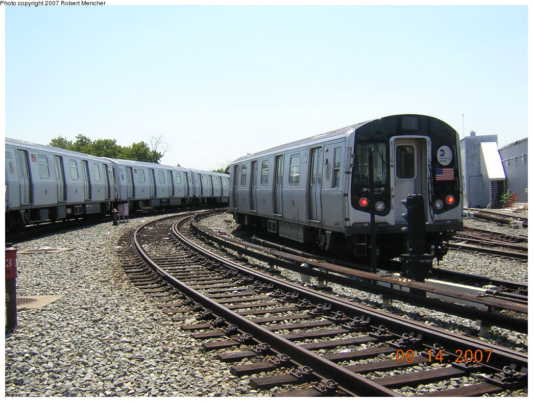 (250k, 1044x788)<br><b>Country:</b> United States<br><b>City:</b> New York<br><b>System:</b> New York City Transit<br><b>Location:</b> Rockaway Parkway (Canarsie) Yard<br><b>Car:</b> R-143 (Kawasaki, 2001-2002) 8209 <br><b>Photo by:</b> Robert Mencher<br><b>Date:</b> 8/14/2007<br><b>Viewed (this week/total):</b> 1 / 2322