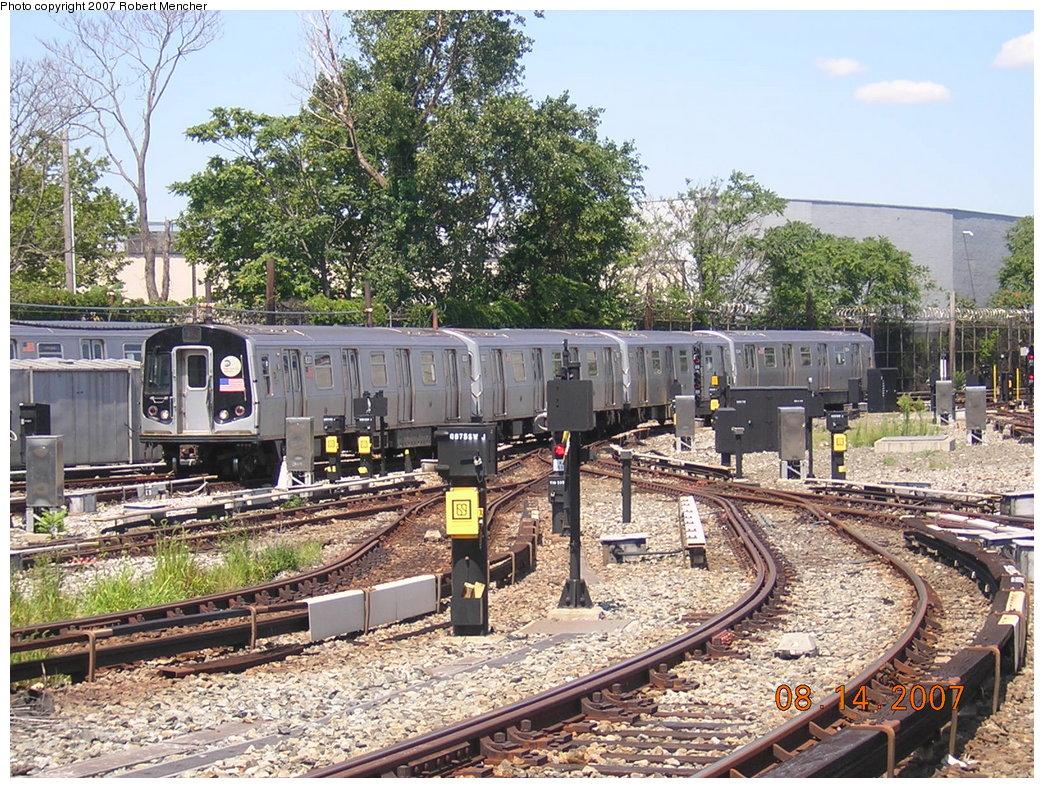 (328k, 1044x788)<br><b>Country:</b> United States<br><b>City:</b> New York<br><b>System:</b> New York City Transit<br><b>Line:</b> BMT Canarsie Line<br><b>Location:</b> Rockaway Parkway <br><b>Route:</b> L<br><b>Car:</b> R-143 (Kawasaki, 2001-2002) 8201 <br><b>Photo by:</b> Robert Mencher<br><b>Date:</b> 8/14/2007<br><b>Viewed (this week/total):</b> 0 / 2837