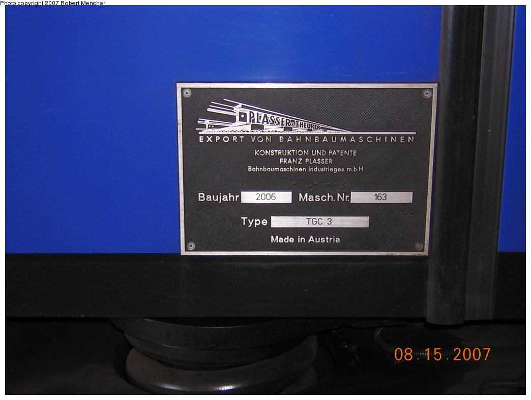 (153k, 1044x788)<br><b>Country:</b> United States<br><b>City:</b> New York<br><b>System:</b> New York City Transit<br><b>Location:</b> Coney Island Shop/Maint. & Inspection Shop<br><b>Car:</b> Track Geometry Car TGC3 <br><b>Photo by:</b> Robert Mencher<br><b>Date:</b> 8/15/2007<br><b>Viewed (this week/total):</b> 2 / 3486