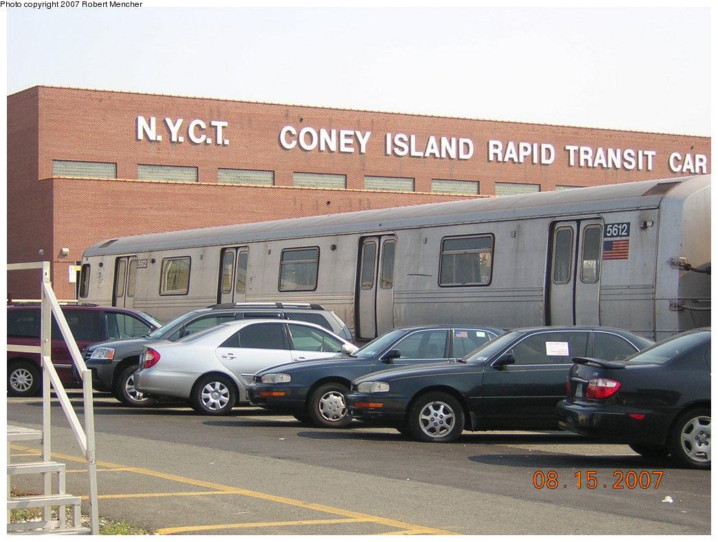 (207k, 1044x788)<br><b>Country:</b> United States<br><b>City:</b> New York<br><b>System:</b> New York City Transit<br><b>Location:</b> Coney Island Yard<br><b>Car:</b> R-46 (Pullman-Standard, 1974-75) 5612 <br><b>Photo by:</b> Robert Mencher<br><b>Date:</b> 8/15/2007<br><b>Viewed (this week/total):</b> 2 / 1643