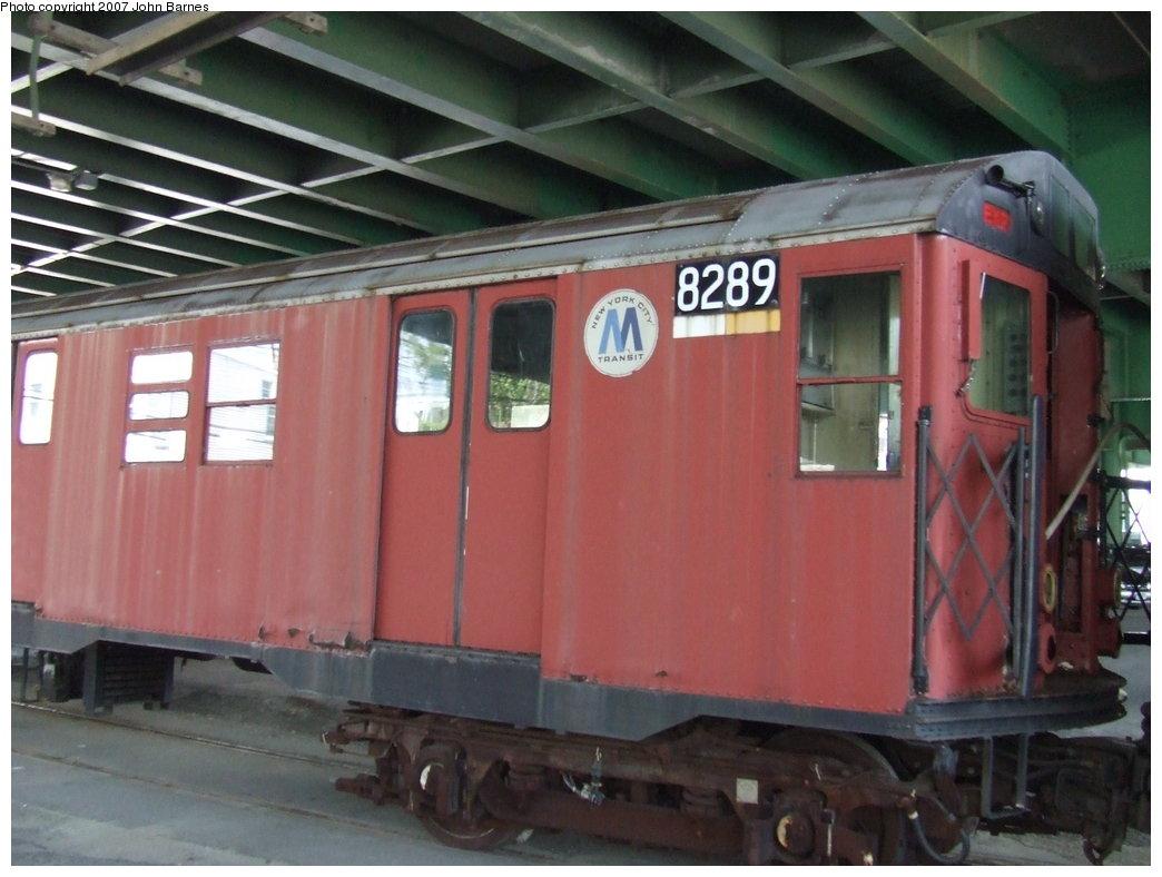 (151k, 1044x788)<br><b>Country:</b> United States<br><b>City:</b> New York<br><b>System:</b> New York City Transit<br><b>Line:</b> South Brooklyn Railway<br><b>Location:</b> 3rd Avenue/38th St Crossing (Gowanus) (SBK)<br><b>Car:</b> R-30 (St. Louis, 1961) 8289 <br><b>Photo by:</b> John Barnes<br><b>Date:</b> 7/17/2007<br><b>Viewed (this week/total):</b> 3 / 2309