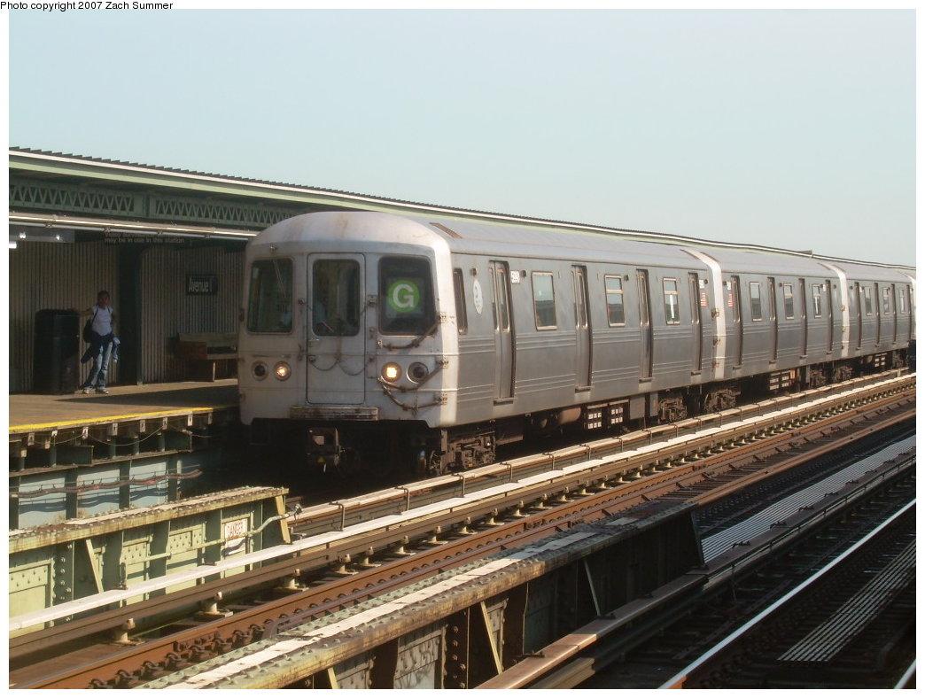 (200k, 1044x788)<br><b>Country:</b> United States<br><b>City:</b> New York<br><b>System:</b> New York City Transit<br><b>Line:</b> BMT Culver Line<br><b>Location:</b> Avenue I <br><b>Route:</b> G<br><b>Car:</b> R-46 (Pullman-Standard, 1974-75) 5990 <br><b>Photo by:</b> Zach Summer<br><b>Date:</b> 8/12/2007<br><b>Viewed (this week/total):</b> 1 / 1512