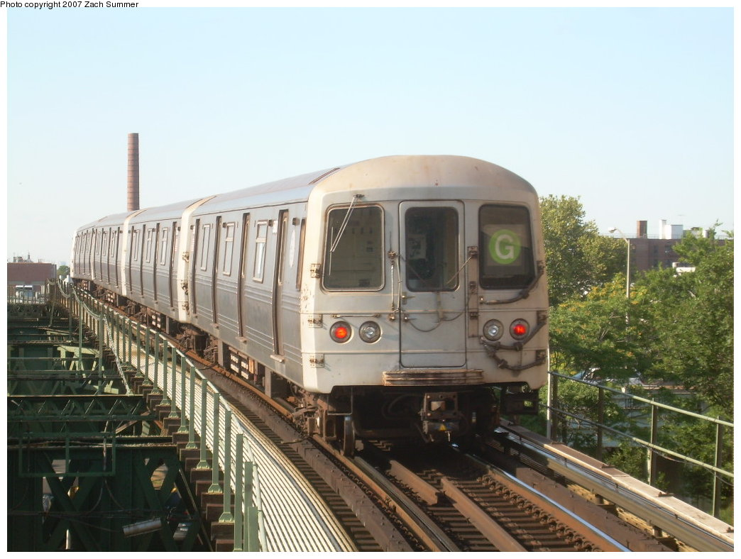 (199k, 1044x788)<br><b>Country:</b> United States<br><b>City:</b> New York<br><b>System:</b> New York City Transit<br><b>Line:</b> BMT Culver Line<br><b>Location:</b> Neptune Avenue <br><b>Route:</b> G<br><b>Car:</b> R-46 (Pullman-Standard, 1974-75)  <br><b>Photo by:</b> Zach Summer<br><b>Date:</b> 8/12/2007<br><b>Viewed (this week/total):</b> 0 / 1561