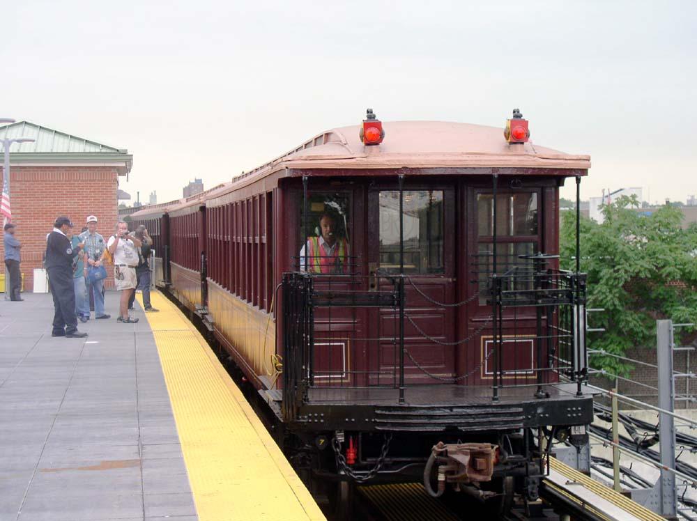 (106k, 1000x748)<br><b>Country:</b> United States<br><b>City:</b> New York<br><b>System:</b> New York City Transit<br><b>Location:</b> Coney Island/Stillwell Avenue<br><b>Route:</b> Fan Trip<br><b>Car:</b> BMT Elevated Gate Car 1404/1237/1407 <br><b>Photo by:</b> Christopher Sattler<br><b>Date:</b> 7/24/2004<br><b>Viewed (this week/total):</b> 3 / 1616