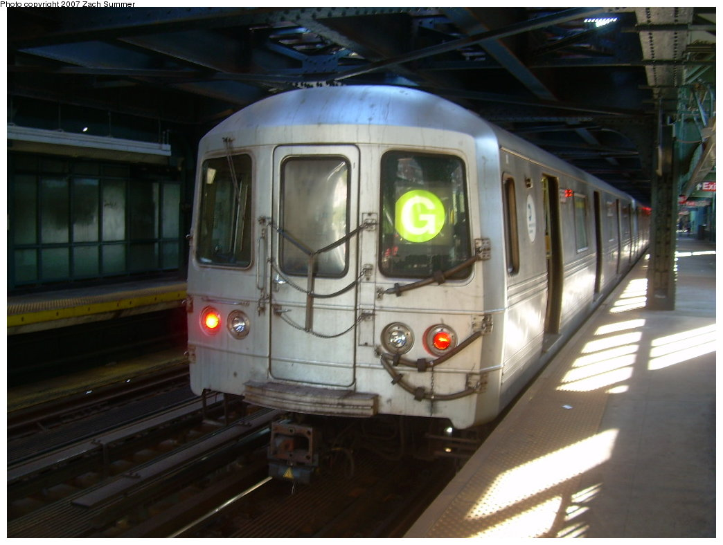 (172k, 1044x788)<br><b>Country:</b> United States<br><b>City:</b> New York<br><b>System:</b> New York City Transit<br><b>Line:</b> BMT Culver Line<br><b>Location:</b> West 8th Street <br><b>Route:</b> G<br><b>Car:</b> R-46 (Pullman-Standard, 1974-75)  <br><b>Photo by:</b> Zach Summer<br><b>Date:</b> 8/12/2007<br><b>Viewed (this week/total):</b> 1 / 1659